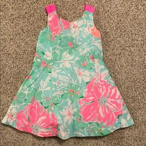 Lilly Pulitzer pink and green floral dress